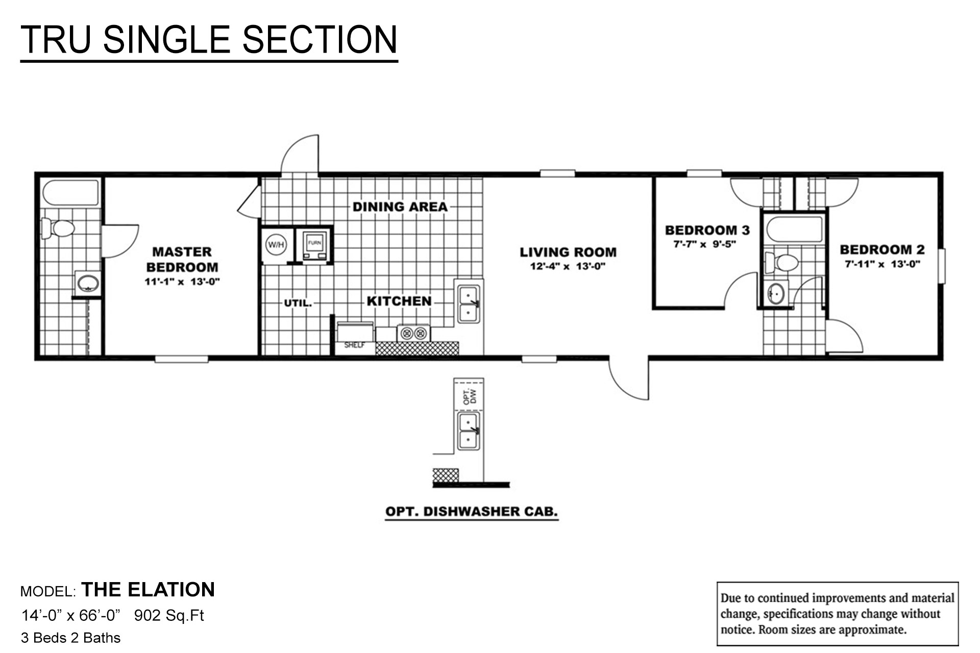 TRU Single Section Elation Layout