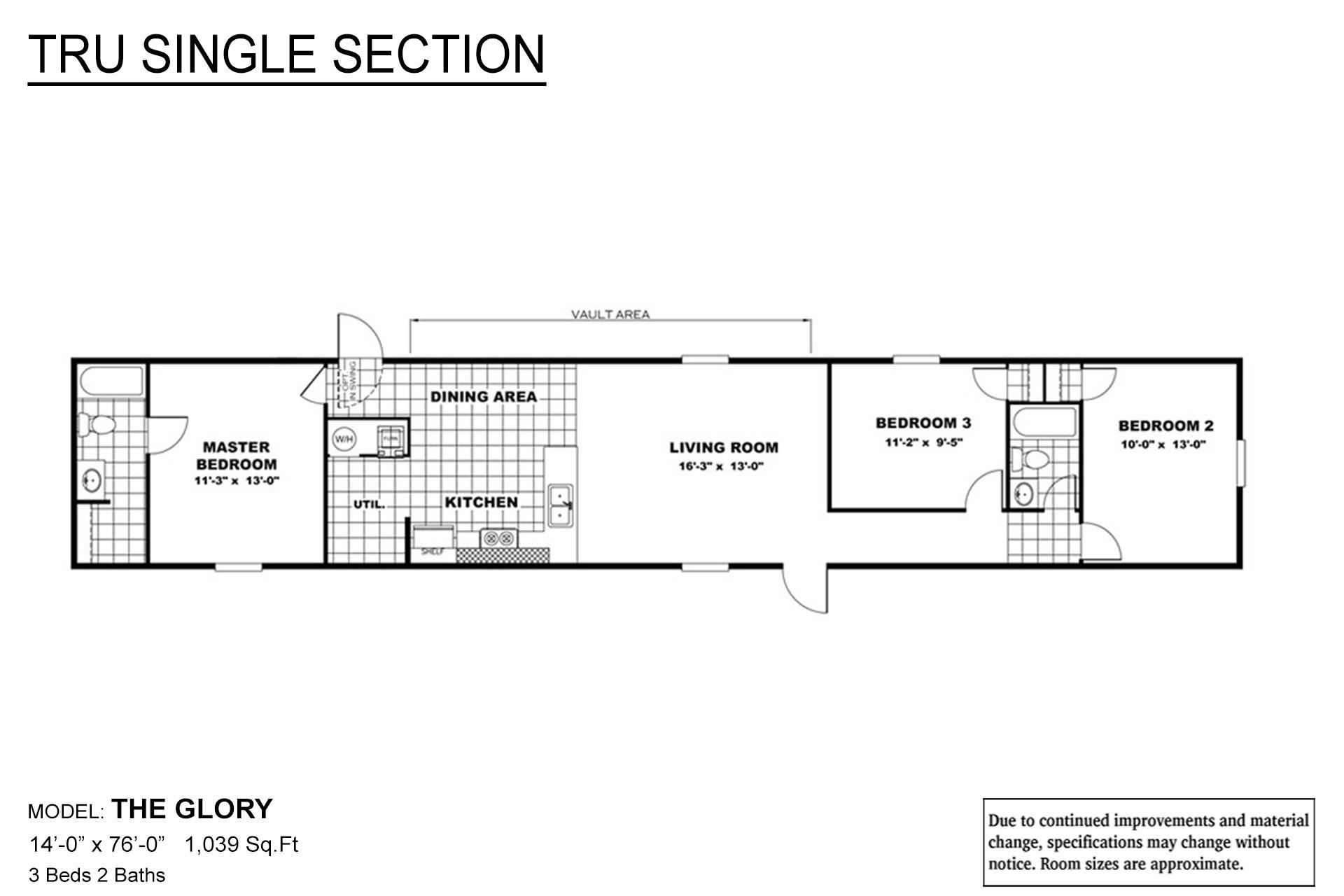 TRU Single Section Glory Layout