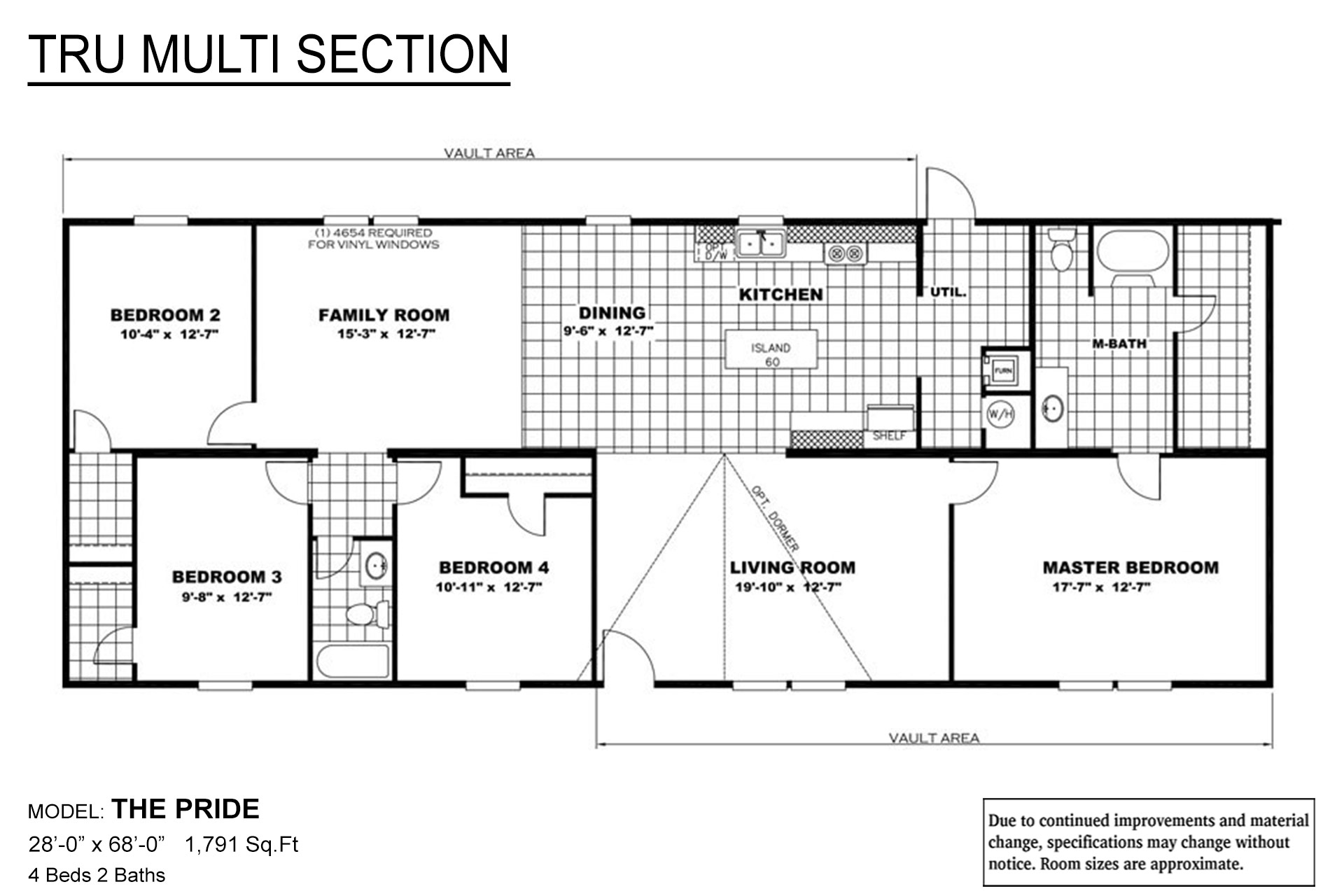 TRU Multi Section Pride Layout
