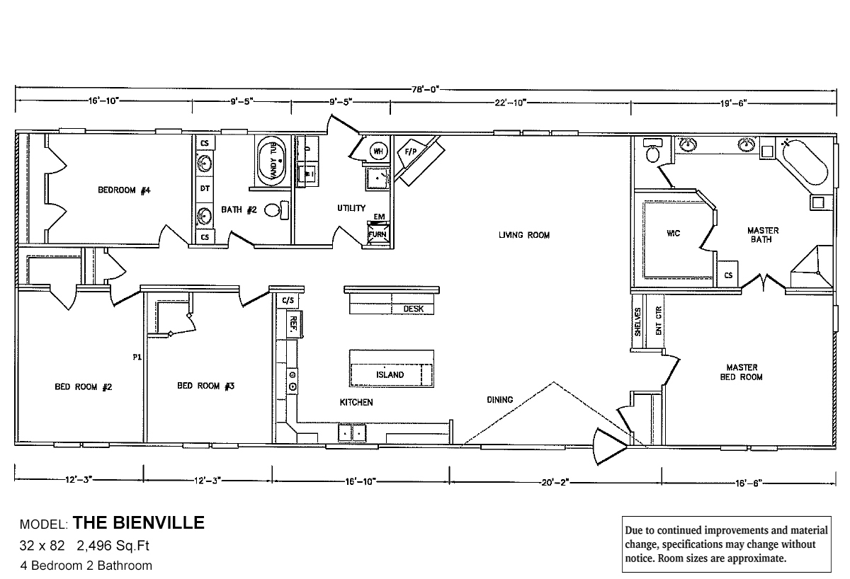 Bolton Homes DW The Bienville Layout