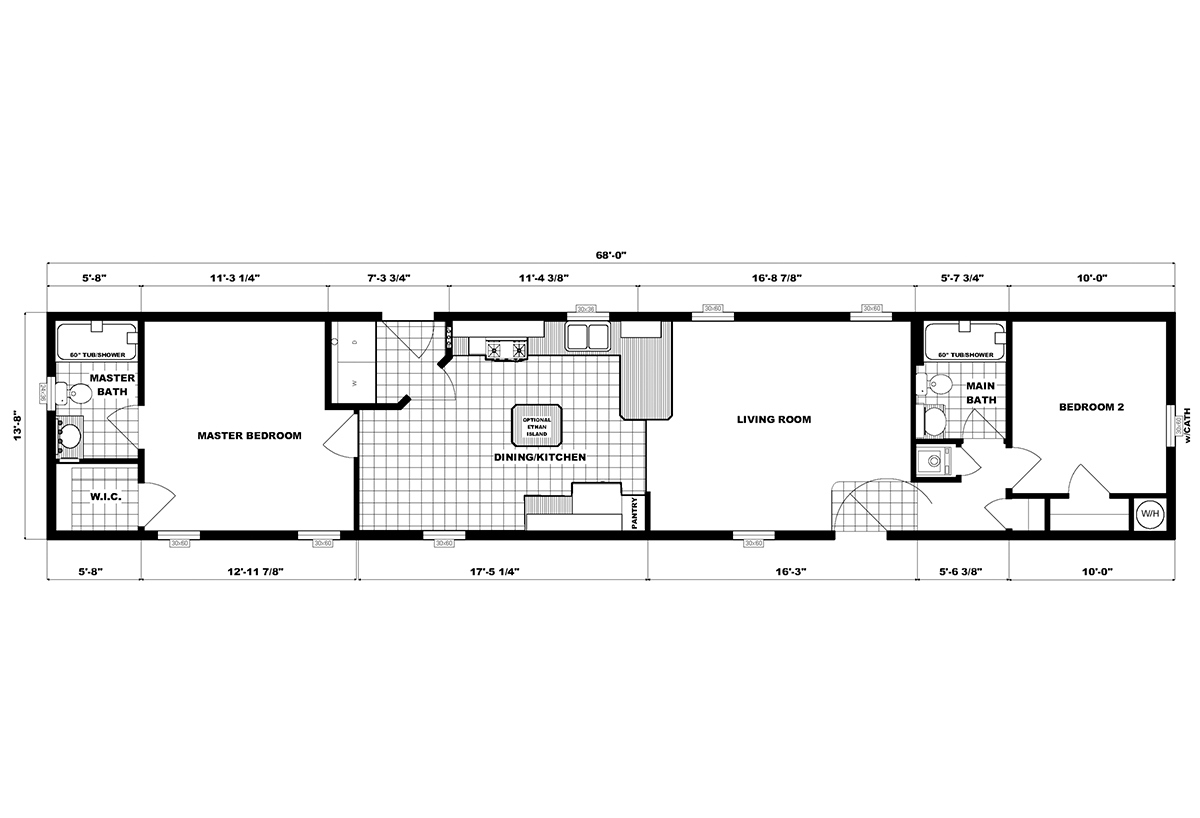 Single-Section Homes G-632 Layout