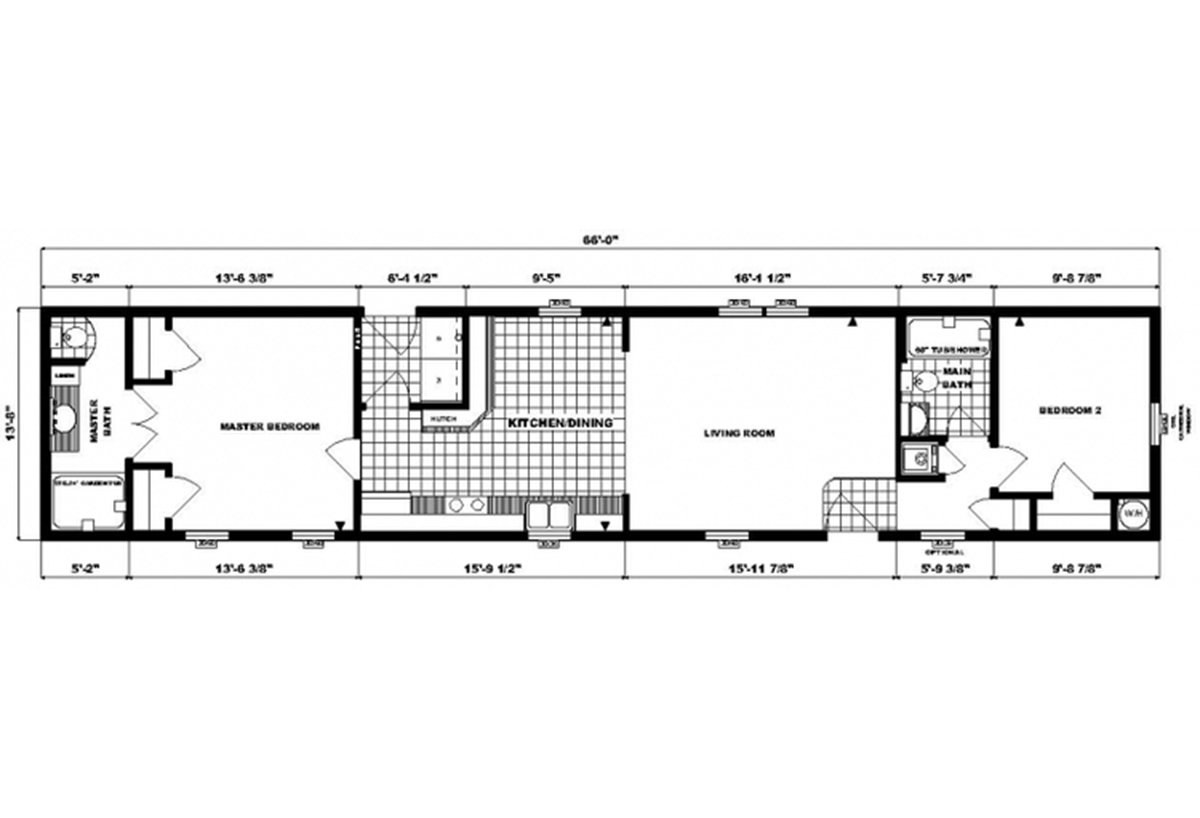 Single-Section Homes GH-496 Layout