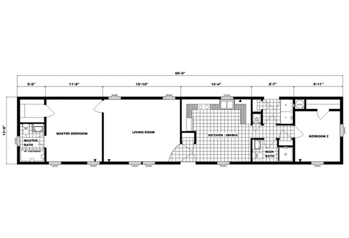 Single-Section Homes G-591 Layout