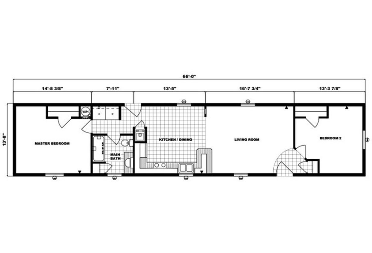 Single-Section Homes G-522 Layout