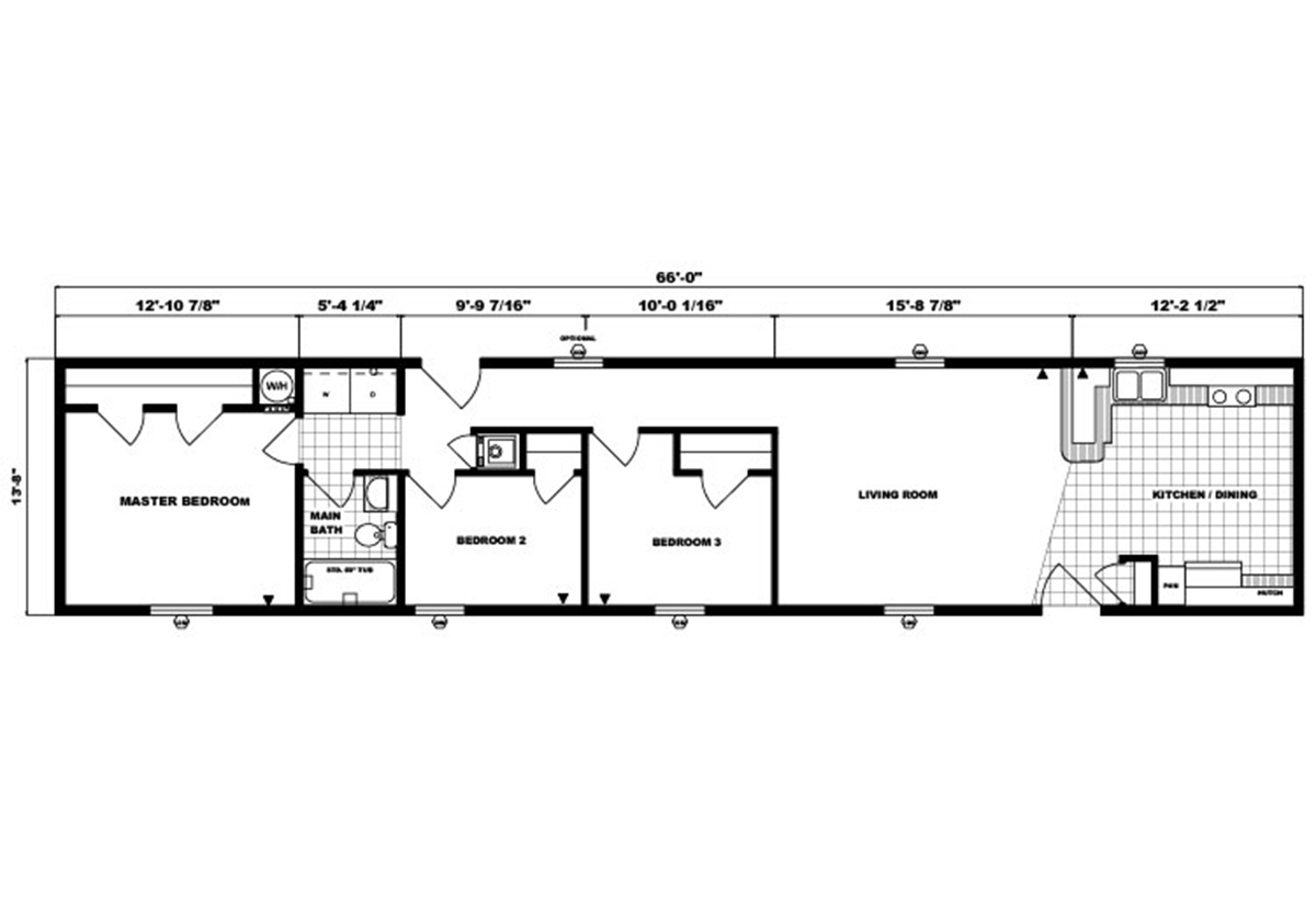 Single-Section Homes G-514 Layout