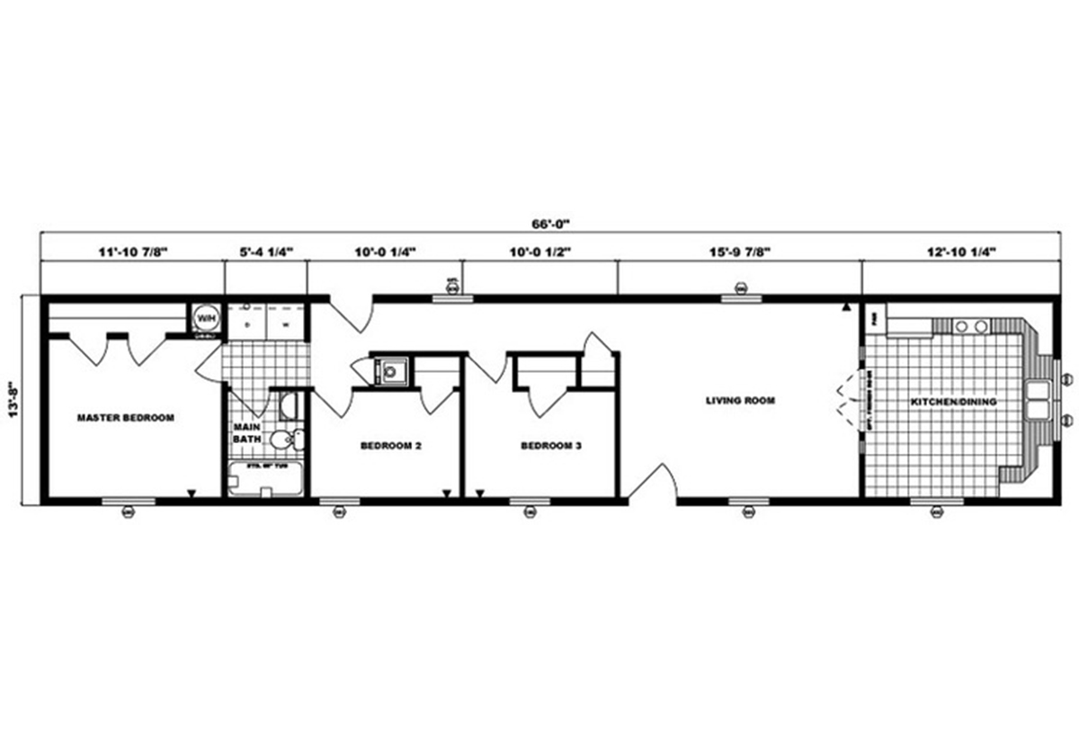 Single-Section Homes G-488 Layout