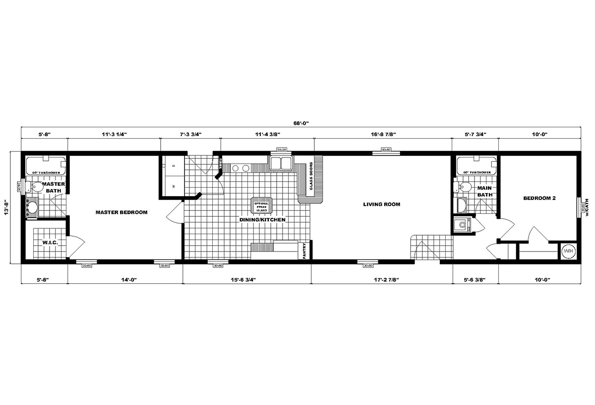 Single-Section Homes GH-577 Layout