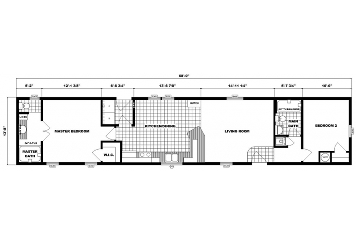 Single-Section Homes GH-533 Layout