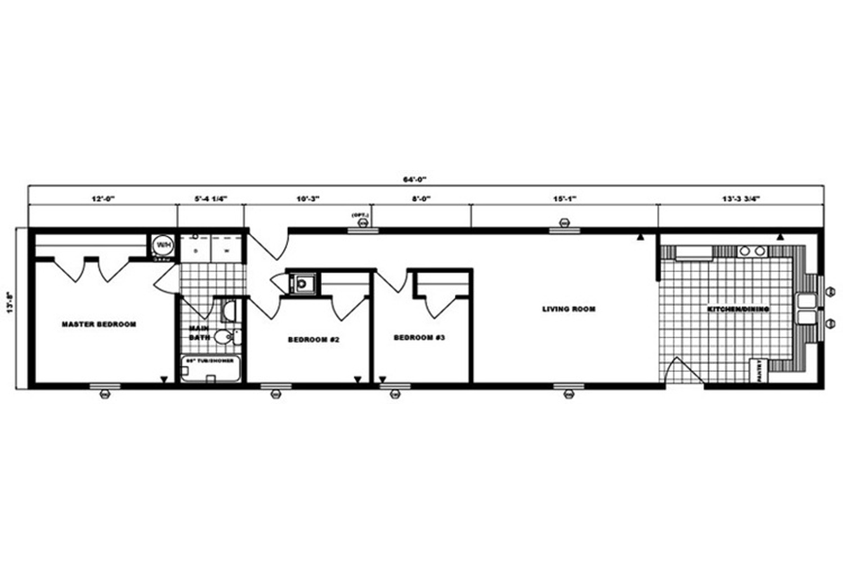 Single-Section Homes G-569 Layout