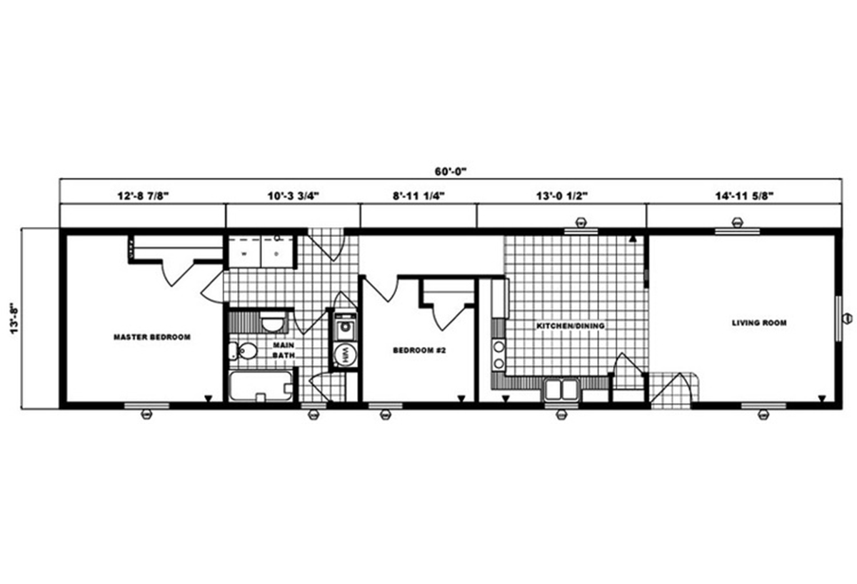 Single-Section Homes G-492 Layout