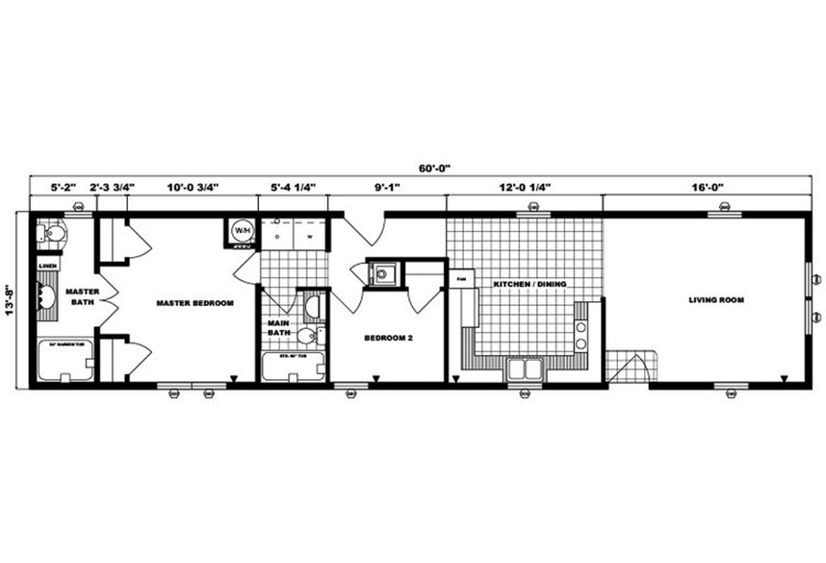 Single-Section Homes - G-553