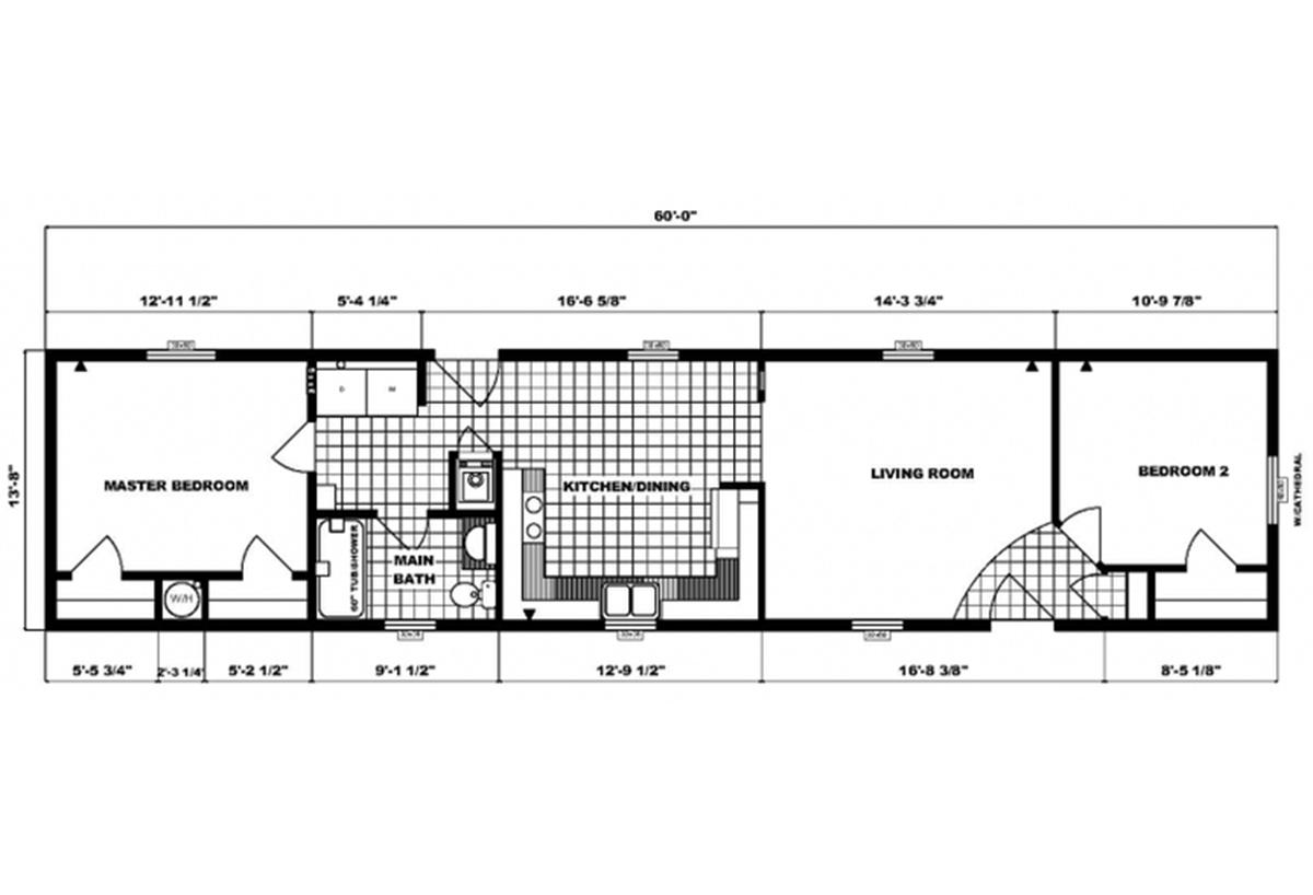 Single-Section Homes G-603 Layout