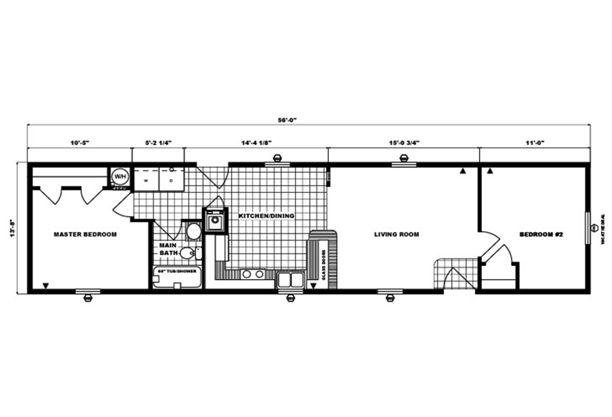 Single-Section Homes G-567 Layout