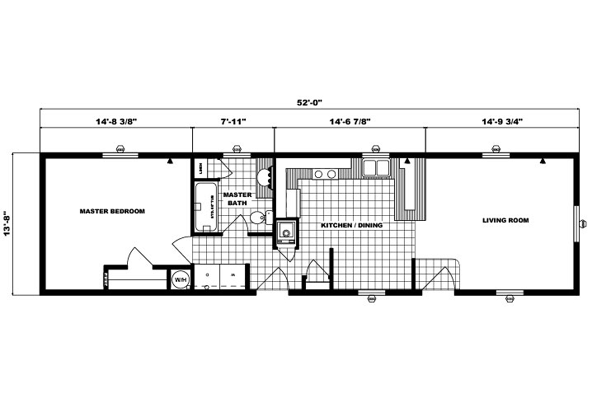 Single-Section Homes G-545 Layout