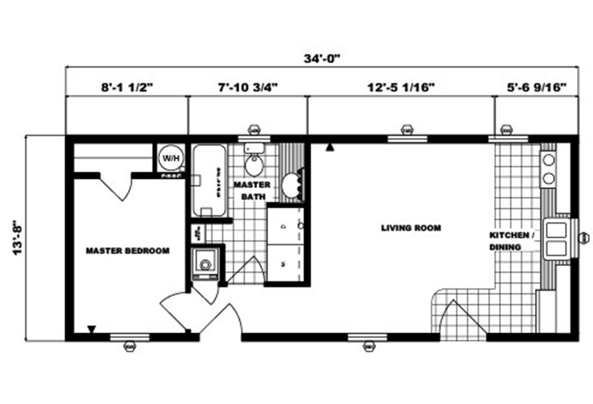 Single-Section Homes G-547 Layout