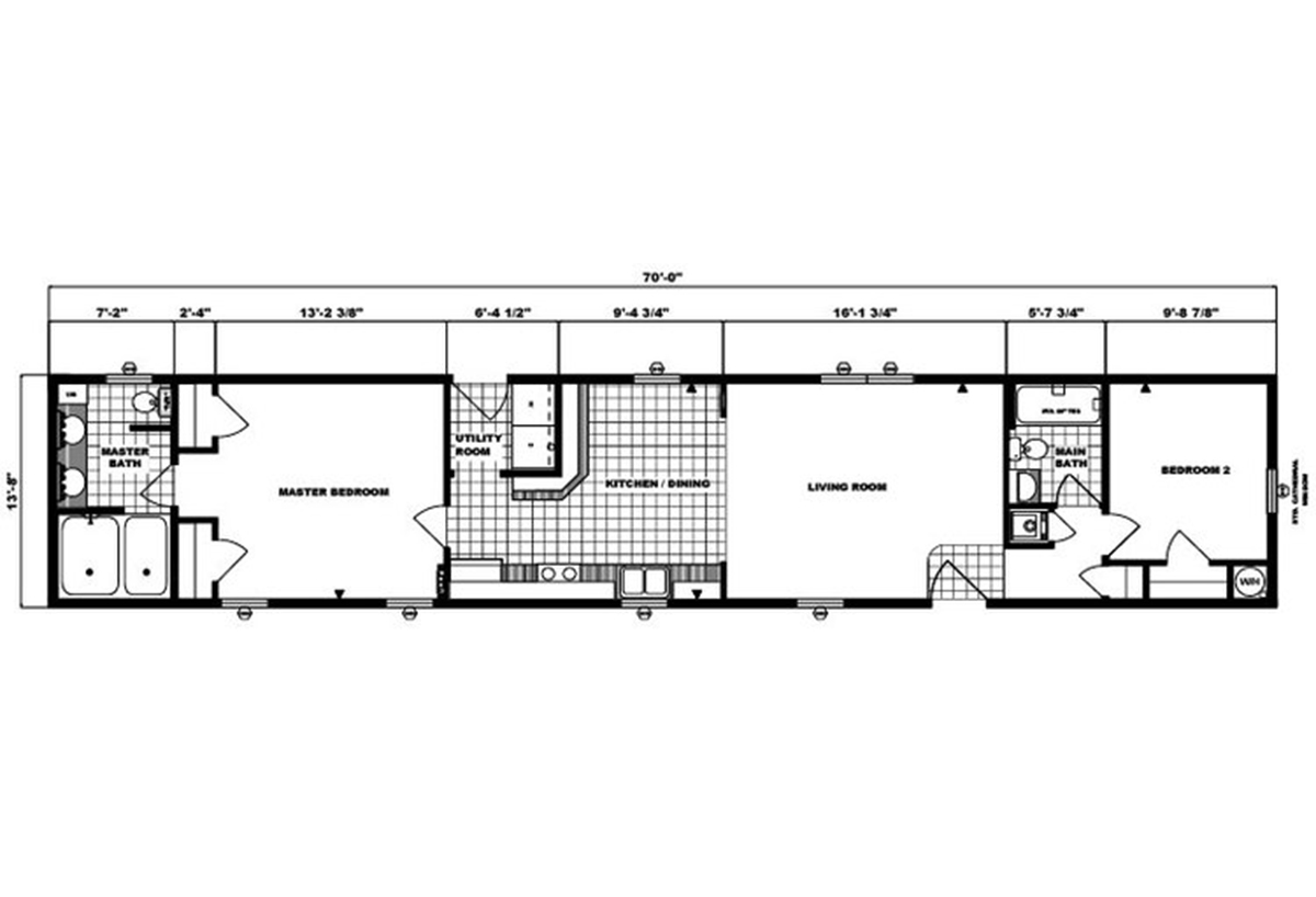 Single-Section Homes G-563 Layout