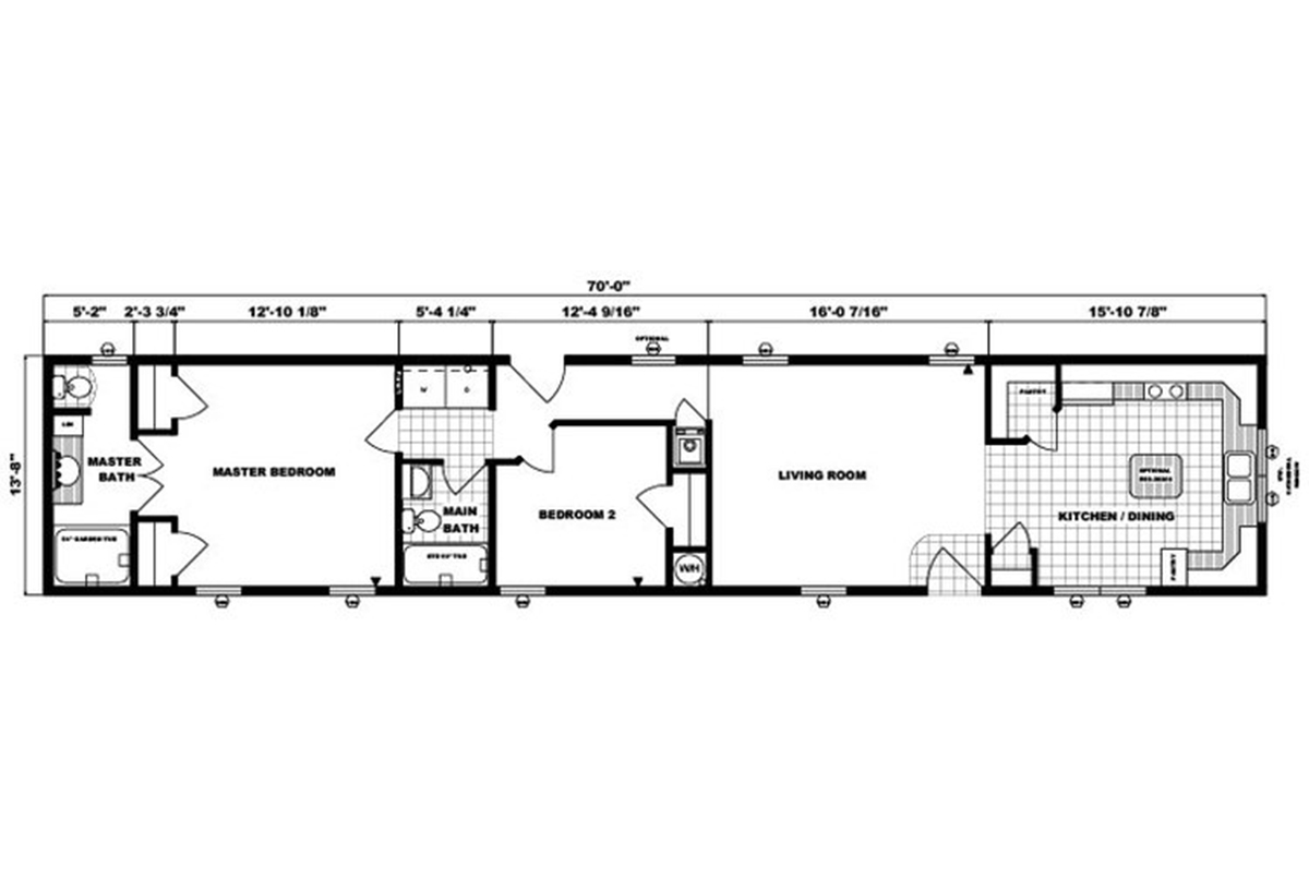 Single-Section Homes G-517 Layout