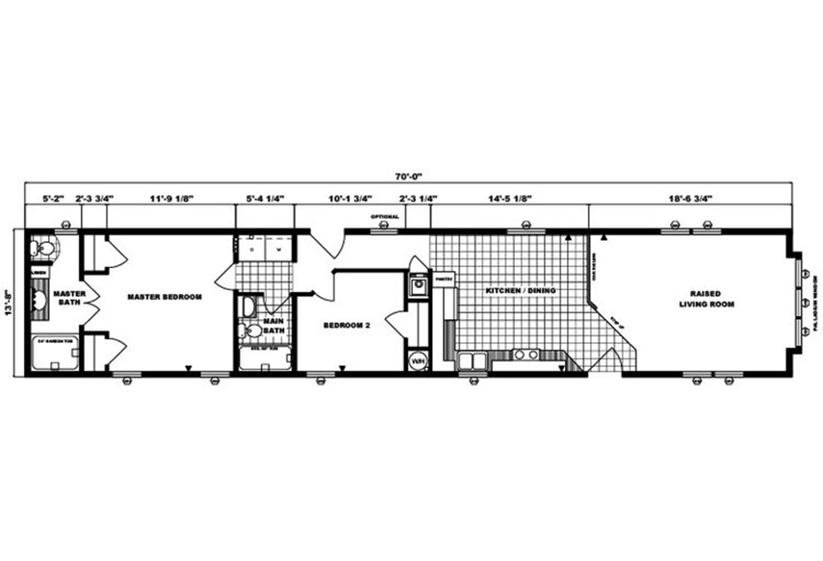 Single-Section Homes G-540 Layout