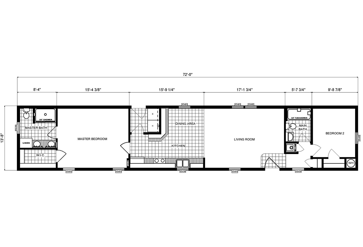 Single-Section Homes GH-494 Layout