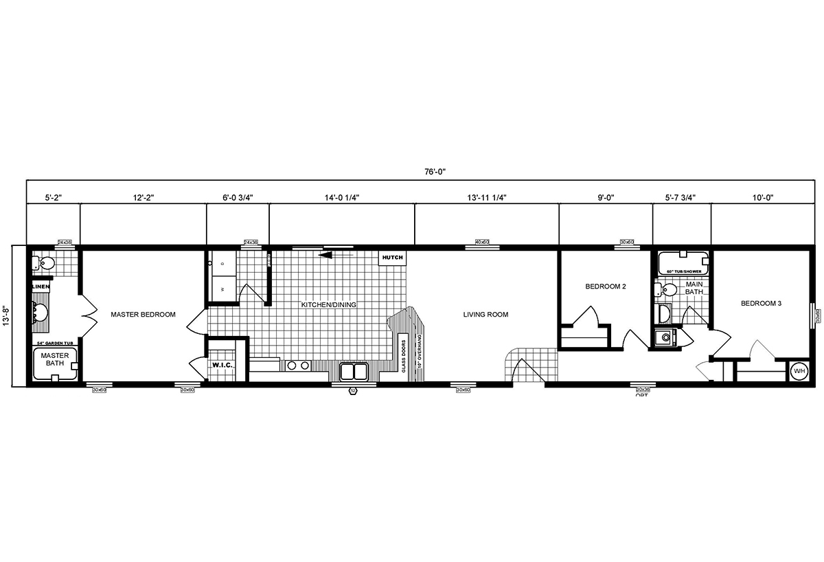Single-Section Homes GH-531 Layout