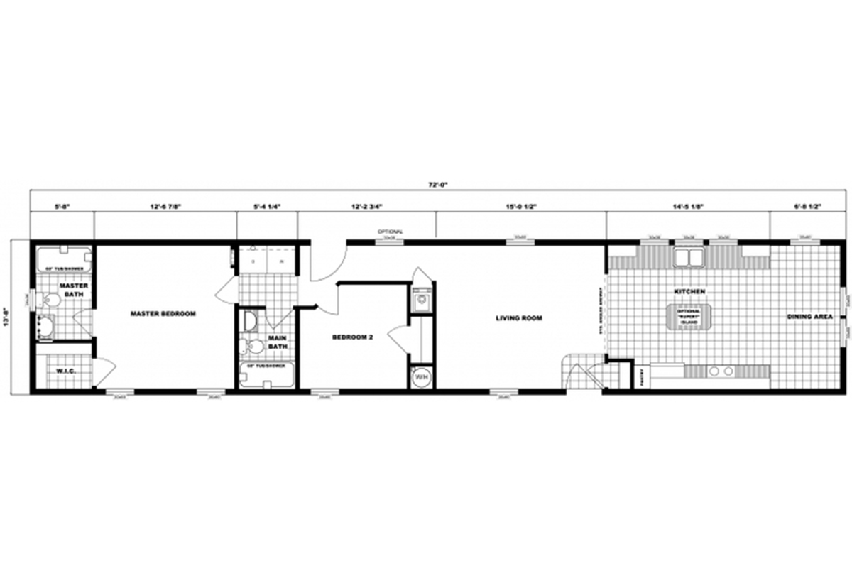 Single-Section Homes G-620 Layout