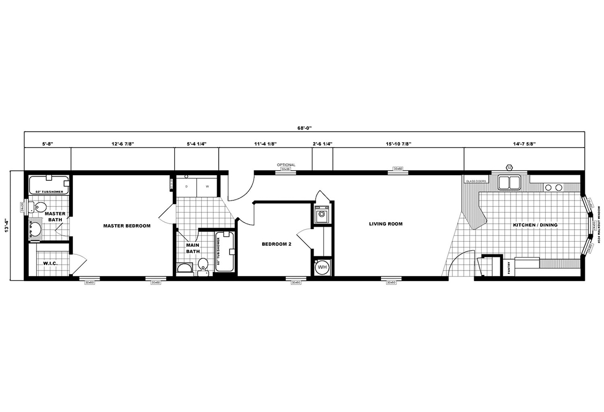 Single-Section Homes NETR G-613 Layout