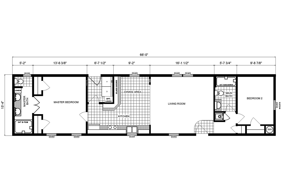 Single-Section Homes GH-16-496 Layout