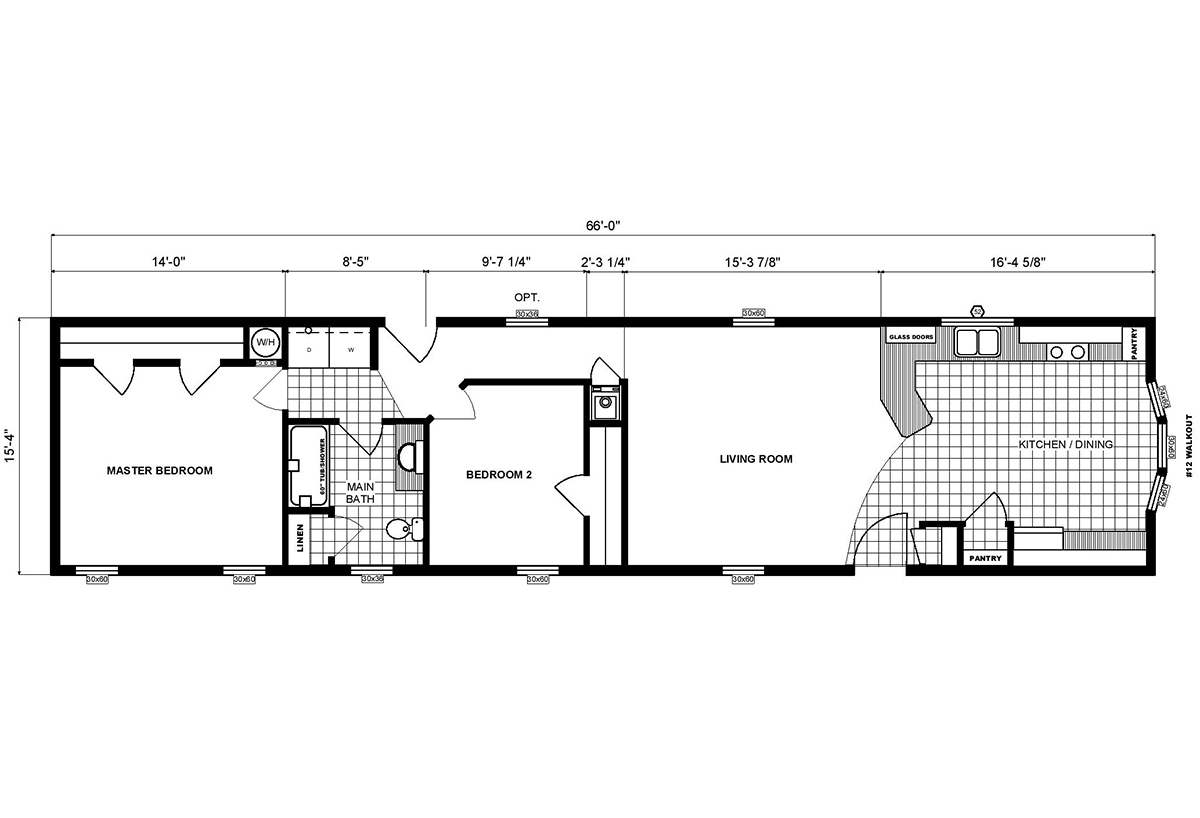 Single-Section Homes G-16-616 Layout