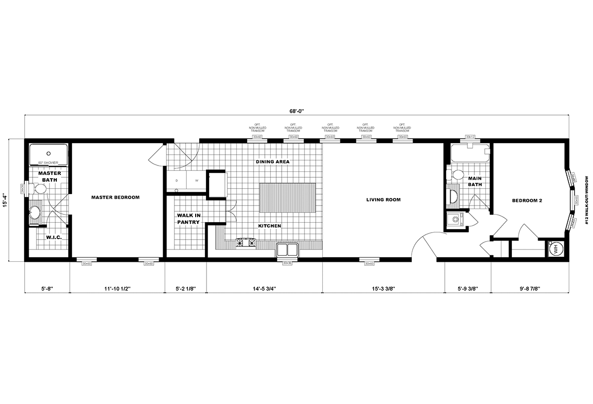 Single-Section Homes G-16-631 Layout