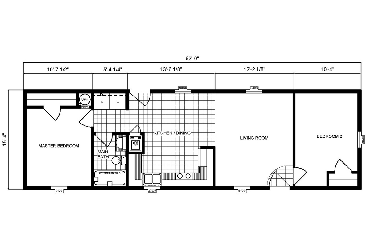 Single-Section Homes G-16-557 Layout
