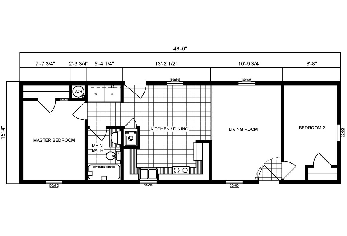 Single-Section Homes G-16-556 Layout