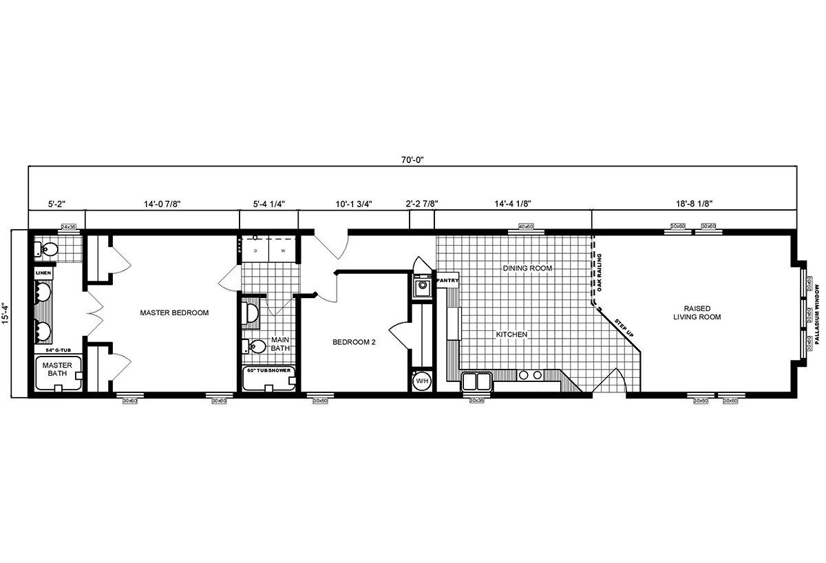 Single-Section Homes G-16-540 Layout