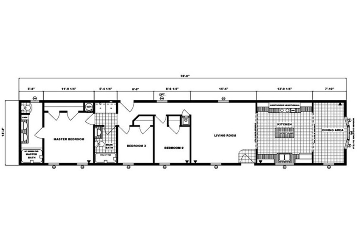 Single-Section Homes G-16-582 Layout