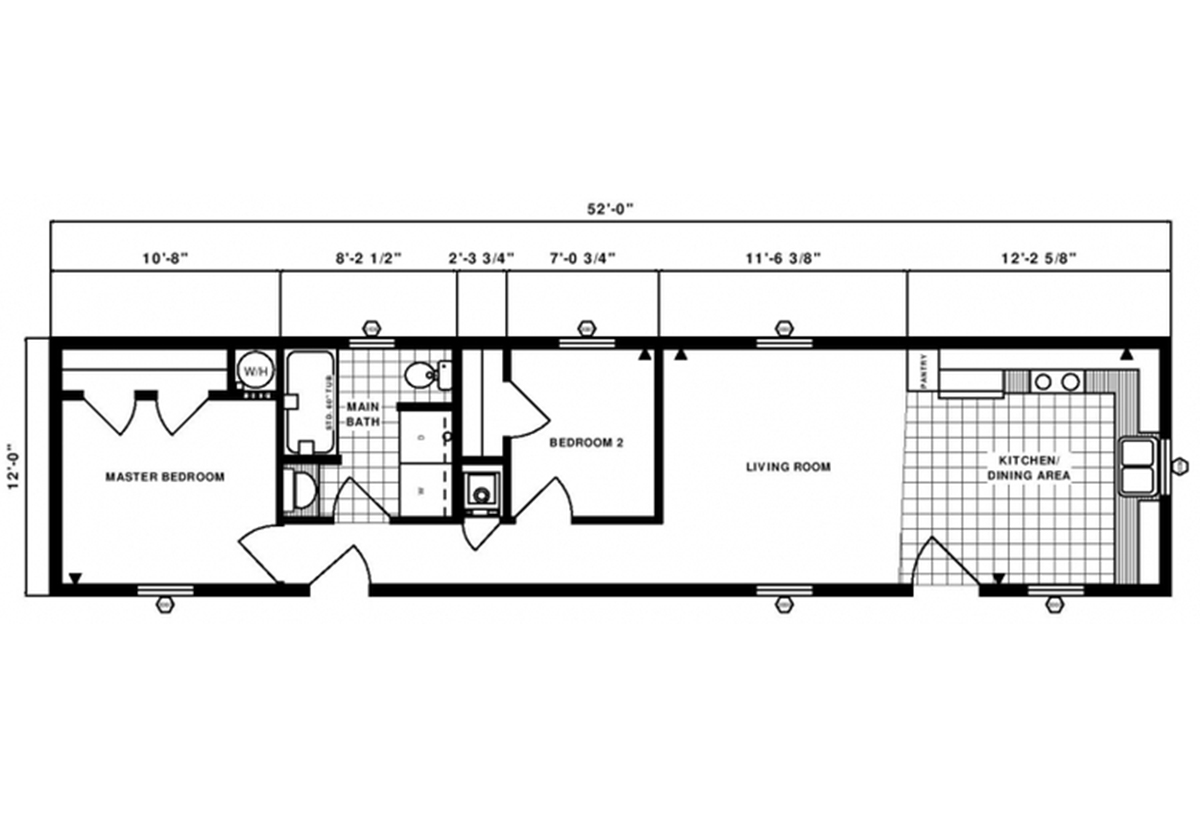Single-Section Homes G-302 Layout