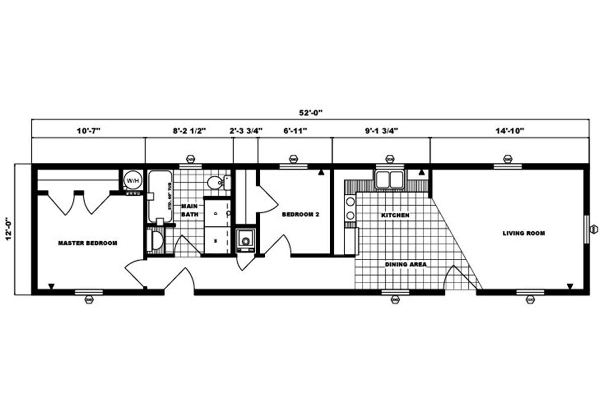 Single-Section Homes G-303 Layout