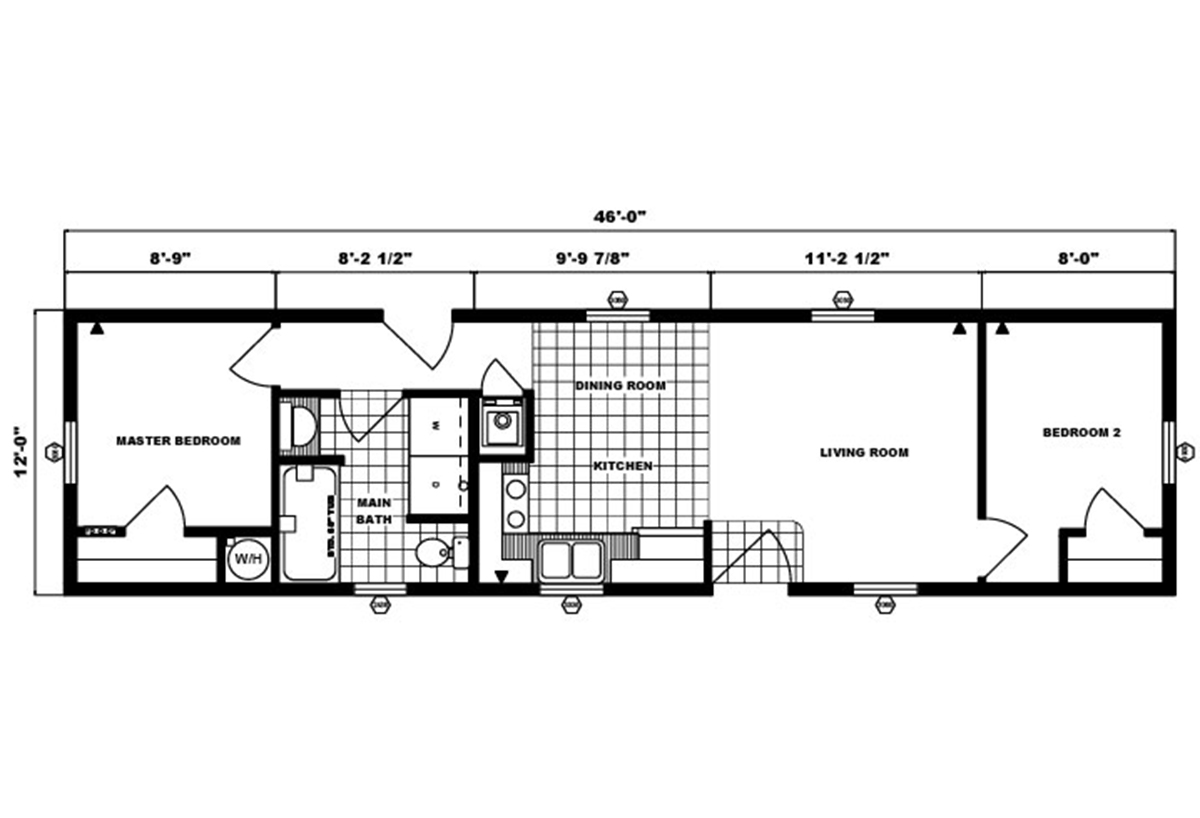 Single-Section Homes G-304 Layout