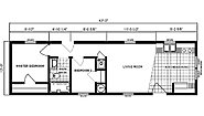Single-Section Homes G-306 Layout