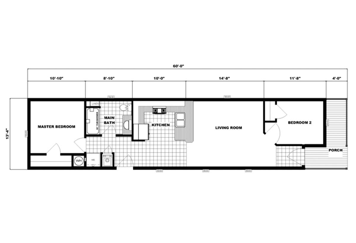 Single-Section Homes NETR G-633 Layout