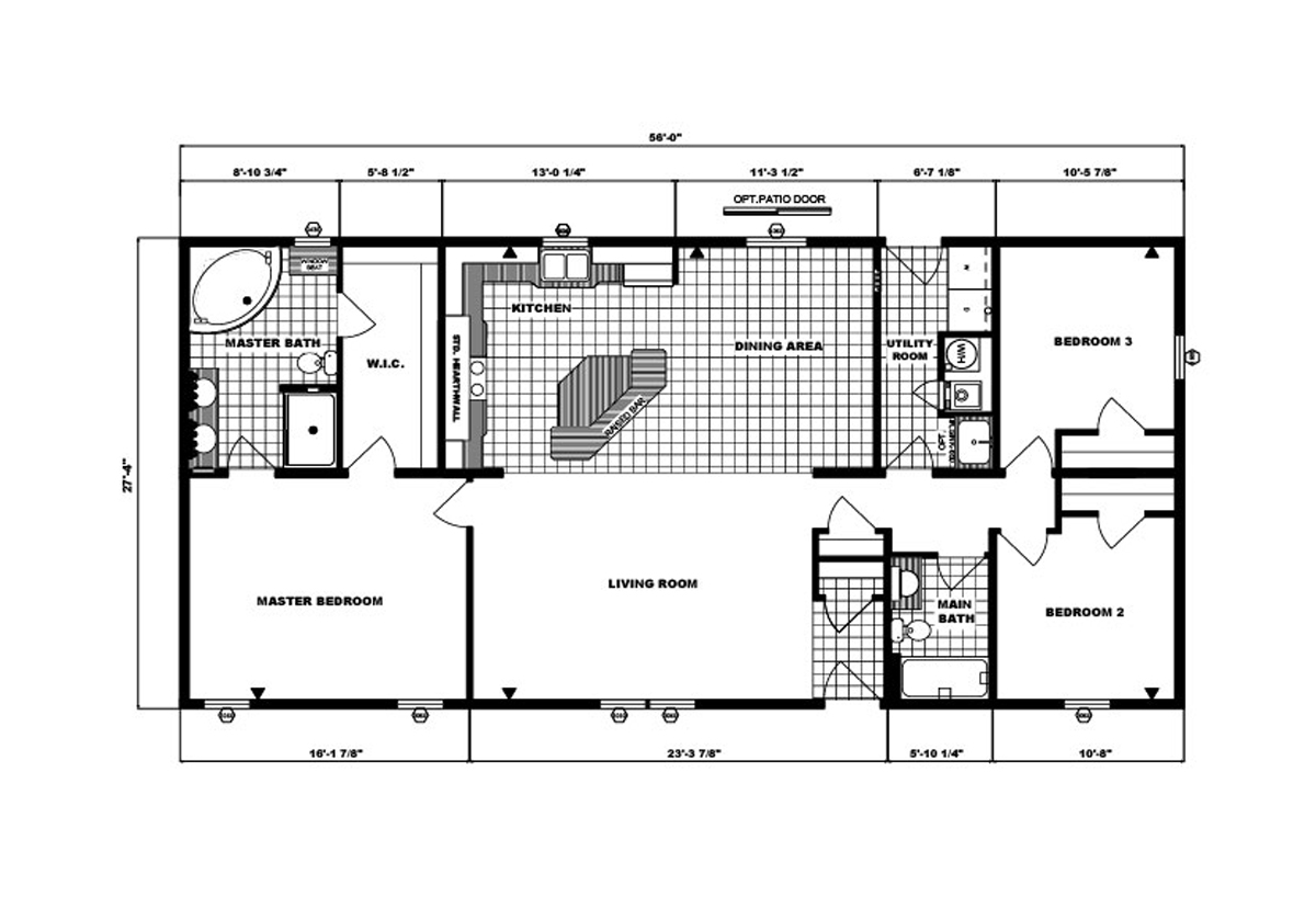Ranch Homes G-1863 Layout