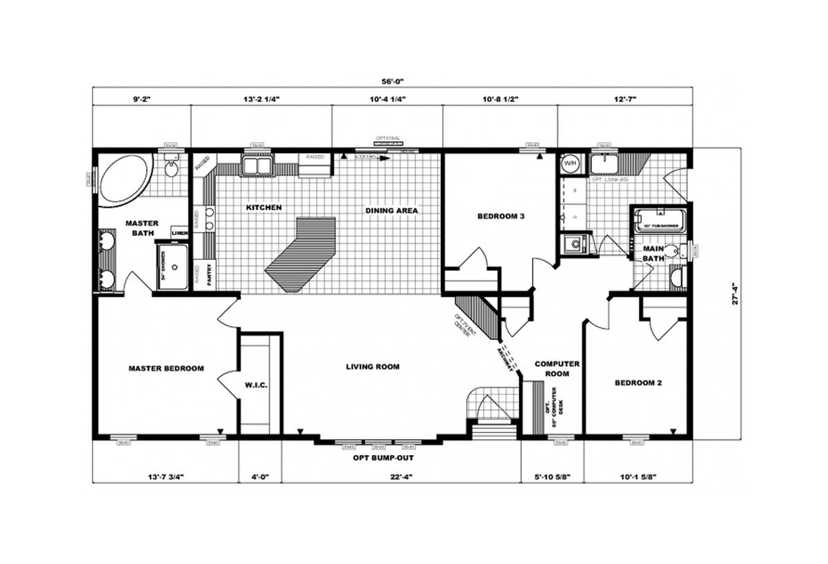Ranch Homes G-3450 Layout