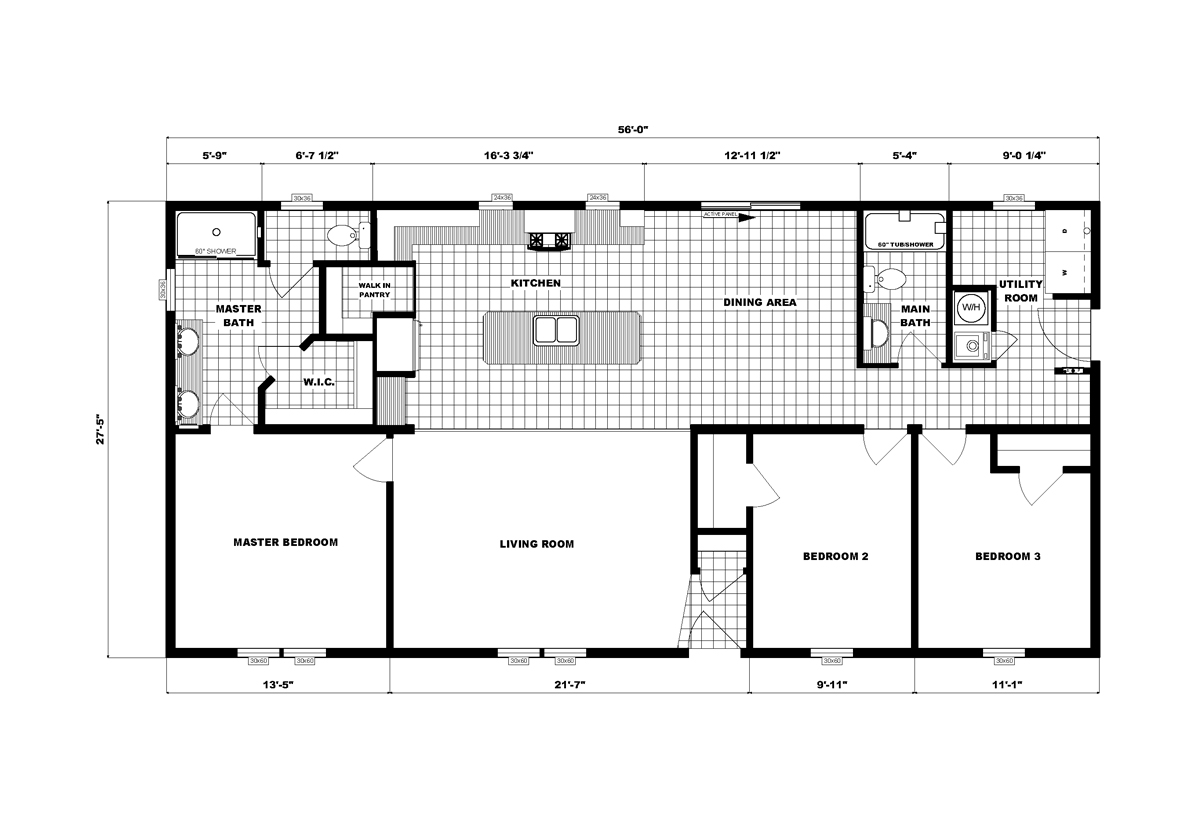 Ranch Homes G-3465 Layout