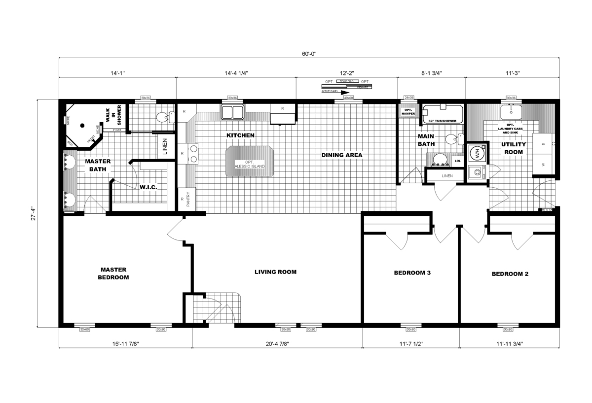 Ranch Homes G-3564 Layout