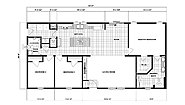 Ranch Homes NETR G-3458 Layout