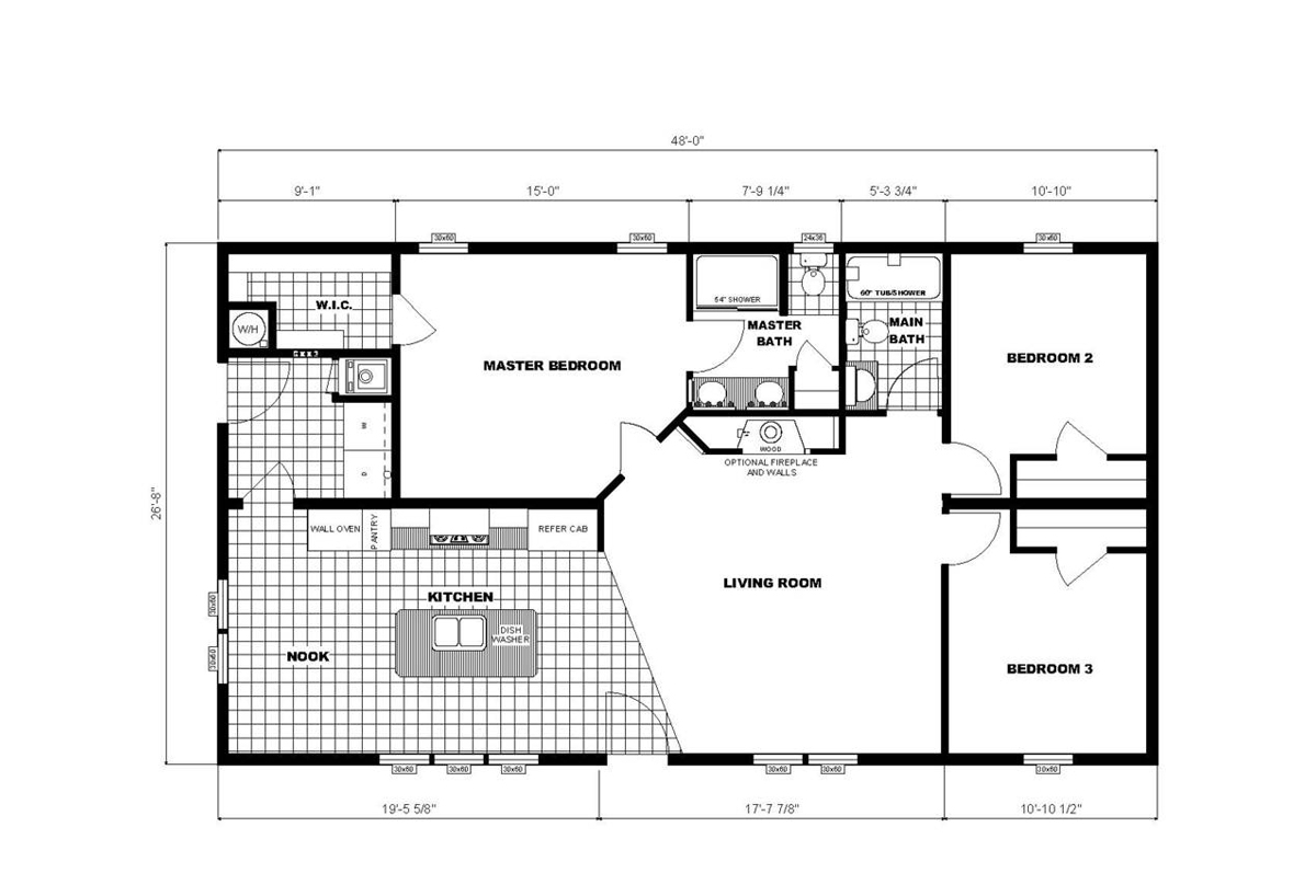 Ranch Homes NETR G-3157 Layout