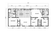 Ranch Homes G-3653 Layout