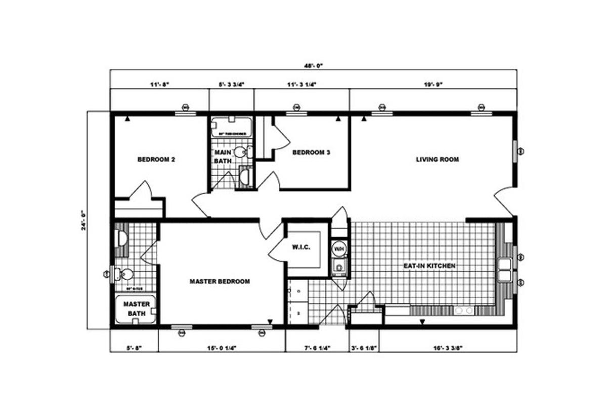 Ranch Homes G-222 Layout