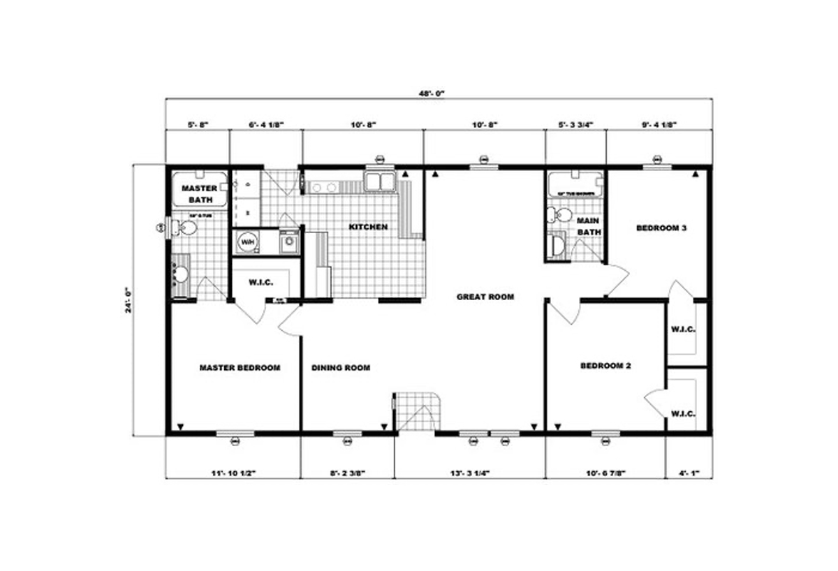 Ranch Homes G-223 Layout