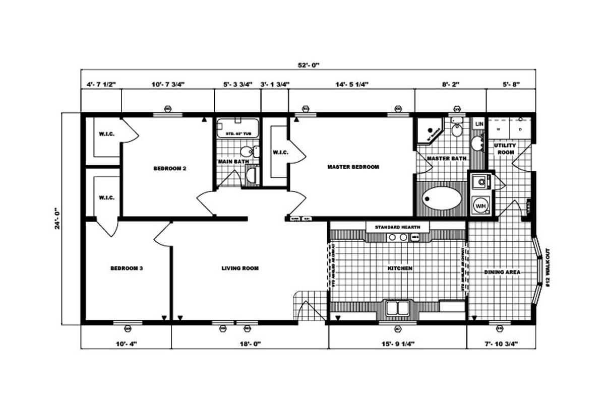 Ranch Homes G-234 Layout