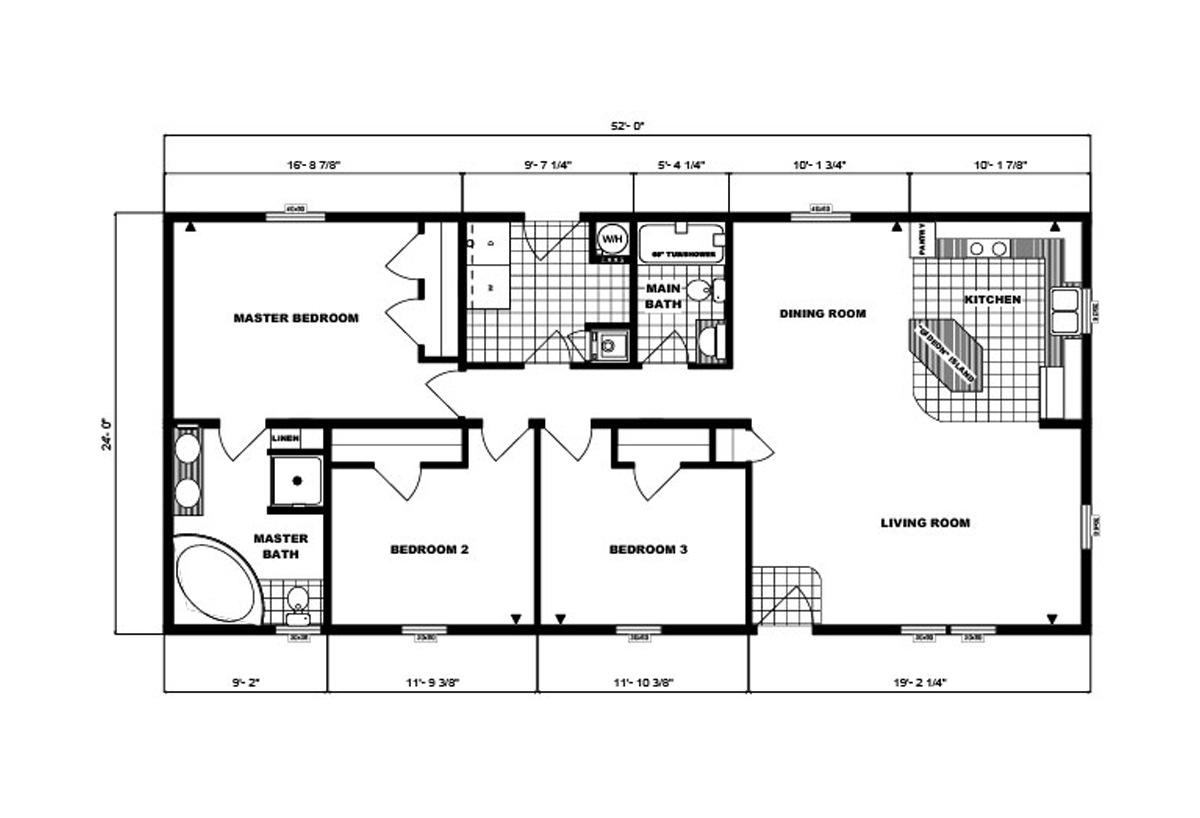 Ranch Homes G-236 Layout