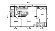 Ranch Homes G-210 Layout